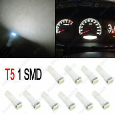 10x T5 White Dashboard Gauge 1SMD LED 5050 12V Wedge Instrument Panel Light Bulb