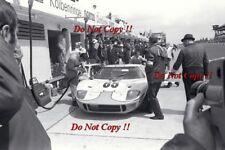 Jacky Ickx & Paul Hawkins JWA Gulf GT40 Nurburgring 1000 Km 1968 Photograph 2