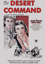 Desert Command (1933) John Wayne & Ruth Hall (DVD)