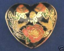2-Cloisonne Designer AAA 45mm Focal Bead-Heart+FREE-glass pearls      (1A3)W3C