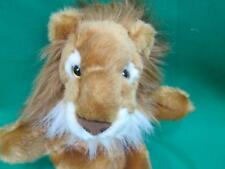 AWESOME LIFELIKE GOLDEN BROWN WHITE LIE IN THE HAND PUPPET PLUSH STUFFED ANIMAL