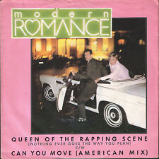 """MODERN ROMANCE queen of the rapping scene/can you move K18928 wea 7"""" PS EX/VG+"""
