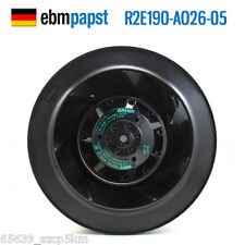 ORIGIANL ebmpapst R2E190-AO26-05 AC 230v 0.26/0.34A Centrifugal fan
