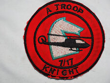 A Troop 7th Squadron 17th Cavalry Regiment Aeroweapons KNIGHT Vietnam PATCH