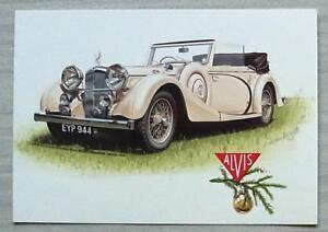 ALVIS 1938 SPEED 25 Company Season's Greetings Card c1992