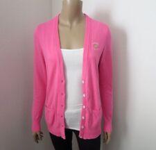 Hollister Womens Logo Cardigan Size Medium Sweater Pink