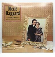"""MERLE HAGGARD -SONGS FOR THE MAMA THAT TRIED- VINTAGE LP - 12"""" FACTORY SEALED."""