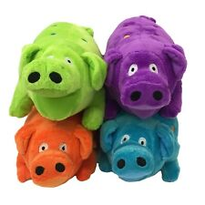 MultiPet Globlet Plush Pig 9in Dog Toy (Free Shipping in USA) Colors Vary