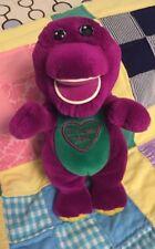 "Barney Plush 11� Talking Singing ""I Love You"" Song Purple Dinosaur Lyons Vintage"
