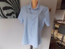 Asos Para hombres Mangas Cortas Largas Camisa Grande moña azul y blanco