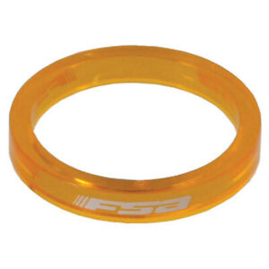 "FSA PolyCarb headset spacer, 1-1/8"" x 5mm - orange 10/bag"