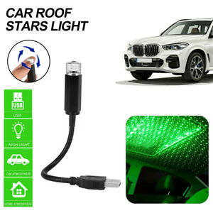 USB Green LED Car Roof Star Sky Night Interior Light Atmosphere Galaxy Lamping