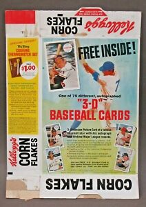 complete 1970 SEATTLE PILOTS 1st Year Kellogg's 3D BASEBALL CARDS cereal box