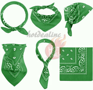 3-12 pcs Bandana Scarves Paisley Head Face Mask Wrap Scarf 100% Cotton