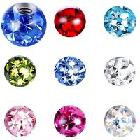1,2MM FERIDO LIP PIERCING LABRET MONROE MADONNA CRYSTAL REPLACEMENT BALL SPARE
