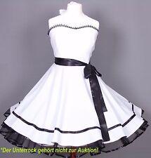 Kleid 50er Jahre zum Petticoat Abiball Hochzeit Konformation  Gr38-42 Weiß