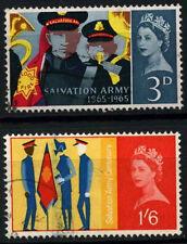 GB QEII 1965 SG#665-6 Salvation Army Ord. Used Set #D51475