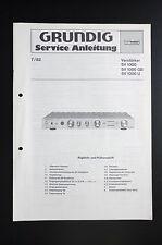 GRUNDIG VERSTÄRKER SV 1000 Original Service-Manual/Anleitung/Schaltplan! o31
