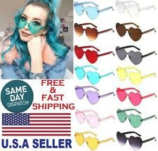 Sunglasses For Women Vintage Heart Shaped PC Frame Glasses Fashion Eyewear UV400