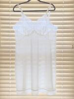 Vintage 1960s Vassarette White Lace-Trim Slip. Size 42