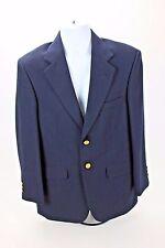 (36S) Stafford Men's Navy Blue Golden Button Wool Blazer Sport Coat Jacket