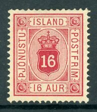 Iceland 1876 Official16a Scott #O7 Mint N977