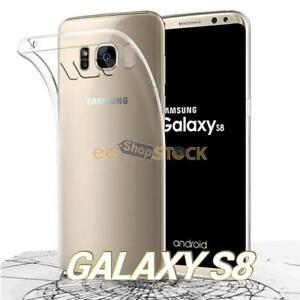 Coque samsung galaxy S8 silicone transparent souple fine ESS TECH® flexible Tpu