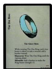 LORD OF THE RINGS LoTR THE GREAT RING THE ONE RING 19P1 AGES END TRADING CARD