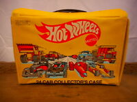 Hot Wheels Mattel Collector's Case 1983 Yellow Collectible Case only