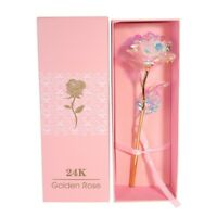 Rose Flower With LED Light with Pink Box Valentine's Day Gift For Girlfriend