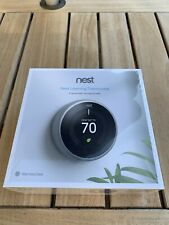 Google Nest 3rd Gen. Learning Thermostat - Stainless Steel - NEW!