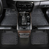 Car Floor Mats Universal Grey Front Rear Non-Slip Rubber for Sedan Van Truck SUV