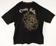 Crown Holder Men's Graphic T-Shirt Size 5XL 100% Cotton Black Short Sleeve Studs