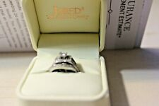 14WG ENGAGEMENT RING PRINCESS CUT WITH WEDDING BAND FROM JAREDS