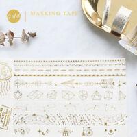 Gold Washi Masking Paper Tapes Hand Account Scrapbook Craft DIY Home Decor