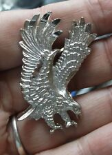 Western Biker Rodeo Scouts Silver Plated Flying Eagle Bolo