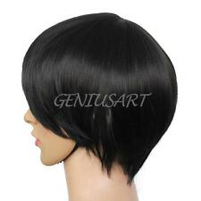 Men's Beautiful Male Black Short Straight Hair Wig/Wigs Cosplay Party Hot Sale