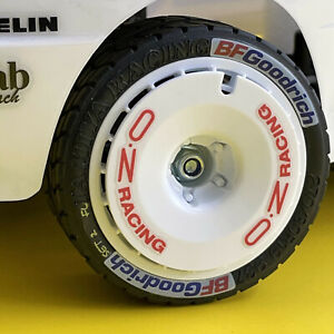 RC 10th Scale WHEEL AND TYRE RACE RALLY LOGO stickers decals Turbo Fans etc