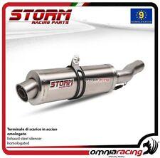 Storm OVAL terminale di scarico in acciaio omologato per BMW R1200GS 2008>2009
