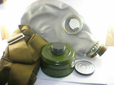 Size - 4 Extra Large Soviet Russian Military Gas mask GP-5. Grey rubber Full set