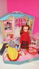 Takara Jenny Vintage Fold Up Doll House / Figure / Clothes Lot Japan