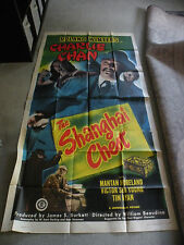 Charlie Chan in Shanghai Chest Roland Winters 1948 movie poster 27X84