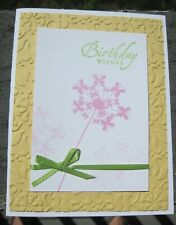 Butterfly Daisy Birthday Handmade Greeting Card, friendship, party, flower