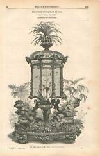 Exposition Universelle Volière Tahan Fusil Gauvain Enfant Prodigue GRAVURE 1855