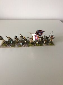 Confederate Infantry x 17 Painted 28mm