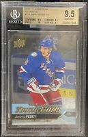 2016 2017 UPPER DECK Jimmy Vesey RC SILVER FOIL BGS 9.5 YG YOUNG GUNS ROOKIE GEM