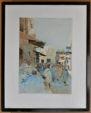 Tangier, Old City, Morocco. Signed Etching by listed artist David Donald 1925