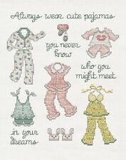 Cute Pajamas - Sue Hillis Cross Stitch Chart + Charm - New