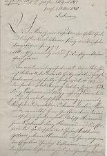 ANTIK Alte Handschrift Urkunde Gerichtsurkunde 1820 Heiligenstadt