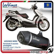 Leovince Nero Pot D'Echappement acier approuve Yamaha XCity / Xmax 125 2006>2016